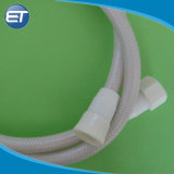 El plástico de PVC blanco suave Bañera Ducha manguera con tuerca el conector