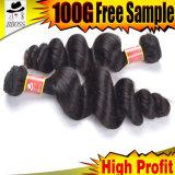 cheveux humains brésiliens de la pente 9A dans l'Afro-américain