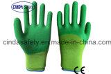 Перчатки безопасности отделки латекса 3/4 покрынные, котор развевали работая