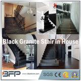 Лестница гранита высокой глянцевитости китайская черная для интерьера