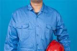 Vêtements de travail bon marché de procès de longue de chemise du polyester 35%Cotton de 65% qualité de sûreté (BLY2004)