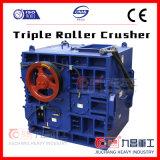 Am meisten benutzte Marmor-/Granit-/Gips-/Kohle-China-dreifache Rollen-Zerkleinerungsmaschine