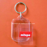 Promotion Gift를 위한 주문을 받아서 만들어진 L Shape Clear Plastic Key Chain