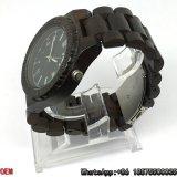 Relógios Ébano-De madeira Top-Quality de quartzo dos relógios