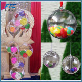 クリスマスのTressの装飾の球6cmの透過プラスチックつまらないものの装飾のギフト