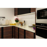 Armário modular da cozinha do PVC da grão de madeira do projeto de Oppein (OP14-PVC02)
