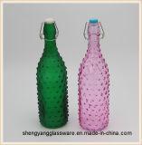 De vrije Fles van het Water van het Glas van de Steekproef Kleurrijke 1L