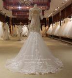 Sem revestimento interior de manga curta vestido de casamento de marfim