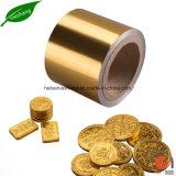 Clinquant d'emballage de chocolat de papier de papier d'aluminium d'impression de couleur d'or