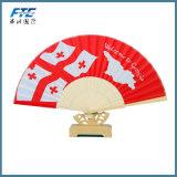 Cadeaux de déplacement se pliants faits sur commande de souvenir de ventilateur de ventilateur fait sur commande professionnel de main