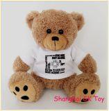 Het nieuwe Embleem Aangepaste Stuk speelgoed van de Pluche van de Bevordering van de Teddybeer
