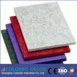 Placa acústica decorativa de fibra de poliéster resistente