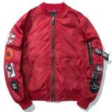 Втулка 100%Polyester людей длинняя с курткой сплетенной заплатами
