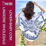 Paisley Kimono Swimsuit Beach Fashion Cover up (L38365)