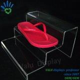 Sostenedor de acrílico de la visualización del zapato, soporte de visualización del zapato del plexiglás