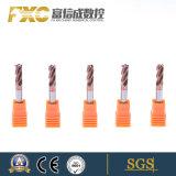 Gabinete Móvel HRC Fxc55 4flautas do raio do canto carboneto sólido fresa