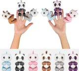 Licorne sèche interactive de vente chaude d'écureuil de paresse de panda de bébé de jouets animaux de doigt, panda heureux drôle de doigt de jouet