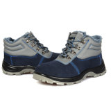中間の足首の本革の鋼鉄つま先の安全靴