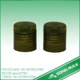 24mm pp. schwarzer Plastikschrauben-Deckel für kosmetische Flasche