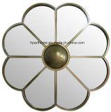 Forma Floral enmarcada espejo de pared para la decoración del hogar