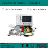 Certificat CE ISO Écran tactile 7 pouces Écouteur électrocardiographe numérique à 6 canaux EKG-923 avec logiciel d'analyse-Candice