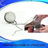 Malla de bola de té de malla de acero inoxidable con cadena (TB-V016)