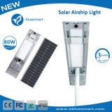 80W luz de rua LED Solar com Sensor de movimento