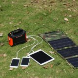 100W Portable Household Solar Power Generator Rechargeable Battery 155wh
