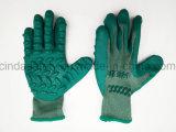 Anti-Vibration перчатка работы безопасности вкладыша хлопка покрынная латексом