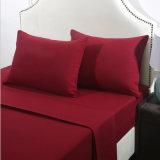 Heiß, billig aufgetragenes festes normales Polyester-Bett-Blatt verkaufend
