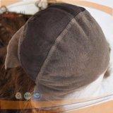 Lleno de trabajo Handtied encaje peluca color marrón-L-01333 (PPG)