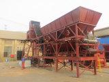 90m3/H mobiele Gemengde Concrete Installatie, Concrete het Groeperen Installatie (HZS90)