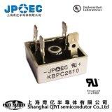 De Gelijkrichter van de Brug van de Halfgeleiders van Shanghai Qiyi Kbpc 2510 de Levering van de Macht van de Diode van de Gelijkrichter 25A1000V