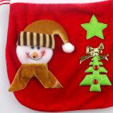 Saco de primeira qualidade do presente de veludo do ouro das decorações novas do Natal