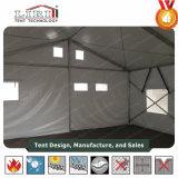 軍隊、販売のための軍隊のテントのための網Windowsが付いている軍の避難者のテント