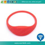Wristband del silicón RFID de 13.56MHz Ntag213 NFC