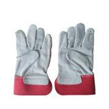 Cheap 10,5 pouces Split de gants en cuir de vache avec logo imprimé