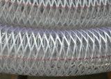 Cable retráctil de PVC antiestático flexible reforzado de la manguera flexible de la línea de latón