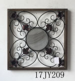 China Wholesale Vintage acento Circular espejo de pared de metal