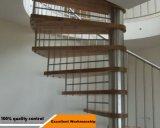 Modèle chaud de vente pour l'escalier spiralé d'intérieur avec les opérations en verre