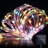 Decoración impermeable solar de la Navidad de las lámparas de la luz de hadas de la cadena del alambre de cobre 120LED del 12m