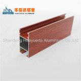 Protuberancia de aluminio del perfil de la ventana de Sliidng de la ventana del marco de la pintura de madera del grano