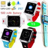 SosボタンY3が付いている防水子供か子供携帯用GPSの追跡者の腕時計