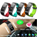 IP68 imperméabilisent la forme physique suivant le bracelet intelligent Q8 de Bluetooth