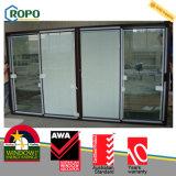 Porte coulissante en verre UPVC / PVC, fenêtre et porte en PVC