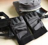 Sport di riciclaggio tattici di cuoio di Airsoft che cacciano i guanti Fingerless militari (SYSG-248)