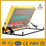 Signe dynamique de message d'Afficheur LED monté sur véhicule de circulation routière