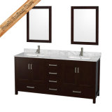Fed 1913 Floor - 거치된 Solid Wood Bathroom Cabinet