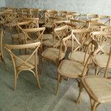 현대 연회 가구 나무로 되는 X 십자가 뒤 의자