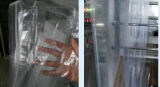 Impresos personalizados soporte de plástico transparente bolsa Ziplock hasta cosméticos de la máquina